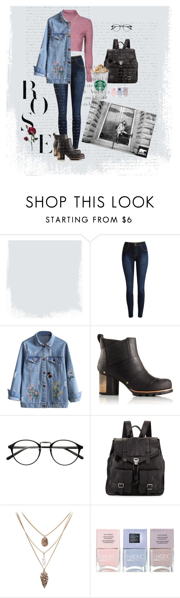 """""""Kick Up the Leaves (Stylishly) With SOREL: CONTEST ENTRY"""" by beachang ❤ liked on Polyvore featuring SOREL, Proenza Schouler, Nails Inc. and sorelstyle"""