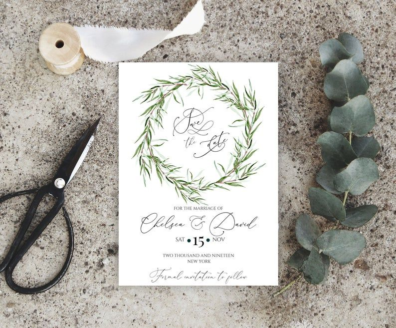 Photo Save the Date Template Save the Date Printable Wedding Save the Date Instant Download DIY Save the Date Editable boho 101