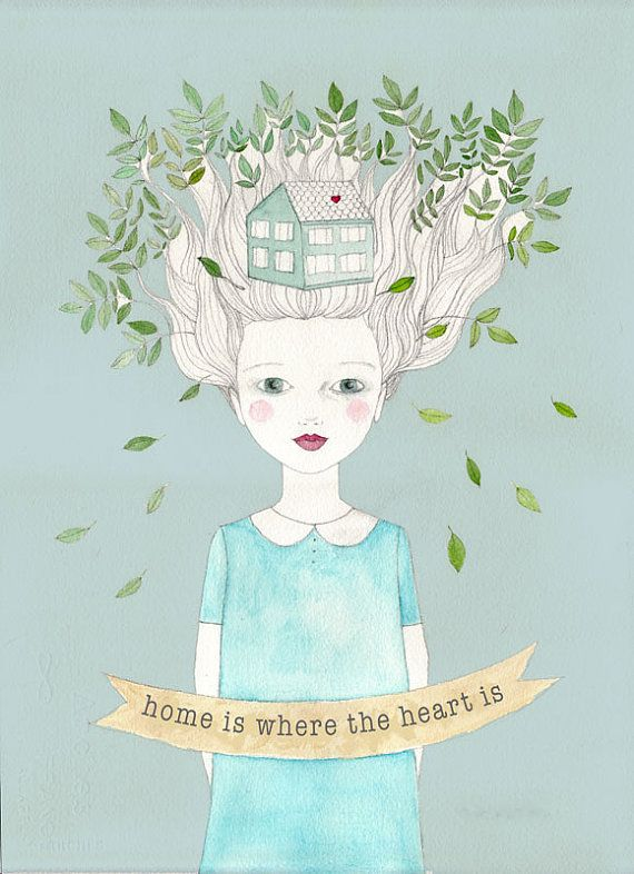 Home is where The Heart is poster artwork print of by IrenaSophia, $20.00