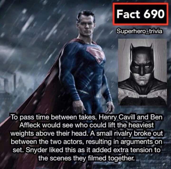 Ben And Henry Making Each Other Better For The Batman Vs Superman Movie Comics Trivia Batman Vs Superman Movie Dc Comics Characters