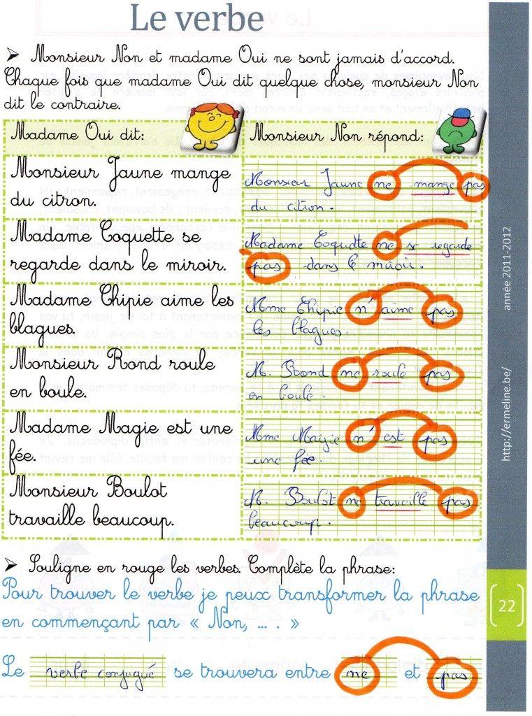 La Grammaire Est Une Chanson Douce Le Verbe Le Verbe Ce1 Verbe Grammaire