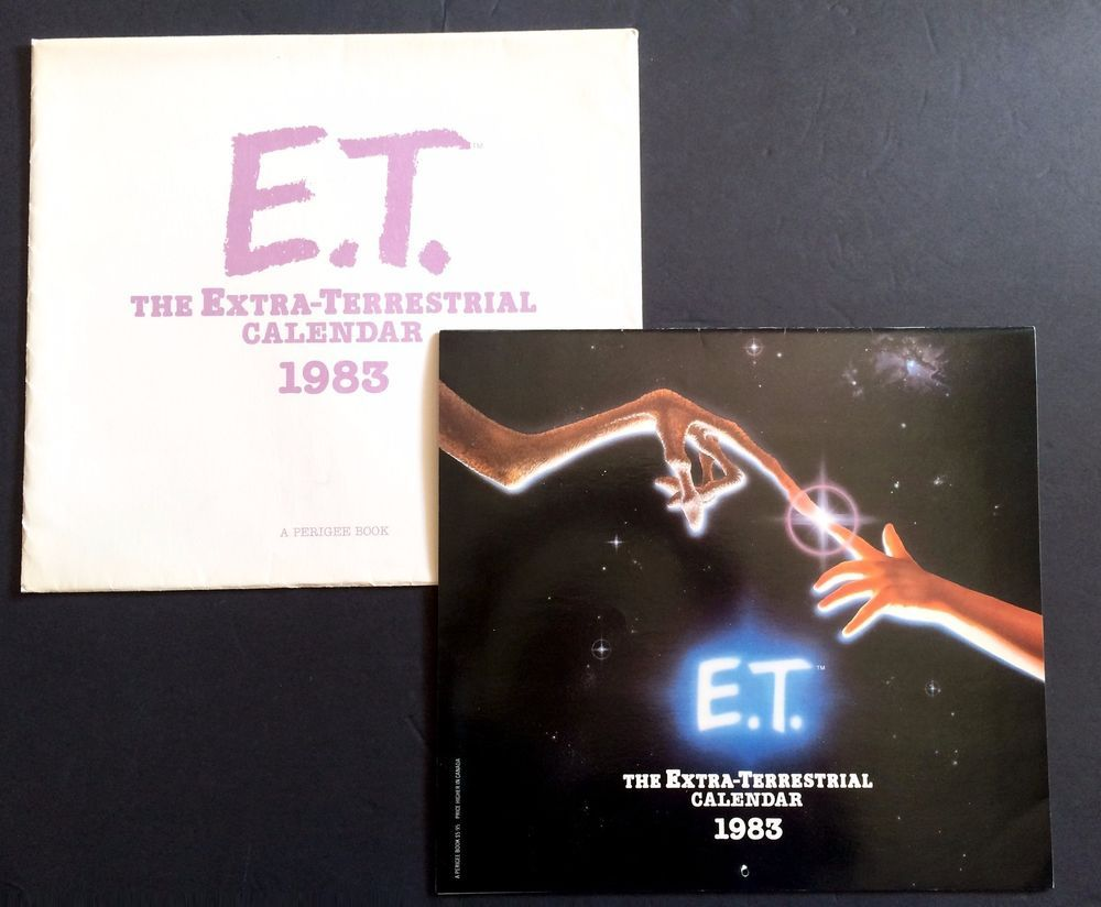 Vintage 1983 E T The Extra Terrestrial Wall Calendar With