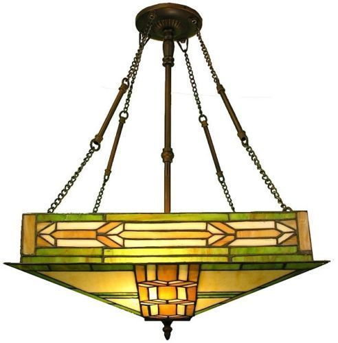 Dining Room Light Fixture Tiffany Style Stained Glass Ceiling