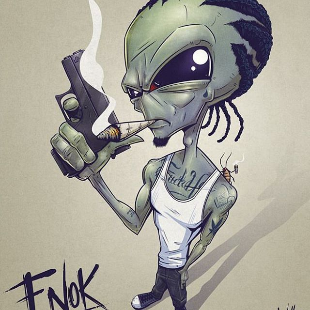 Sick Design By Kyrowolf Cartoon Art Stoner Art Alien Art