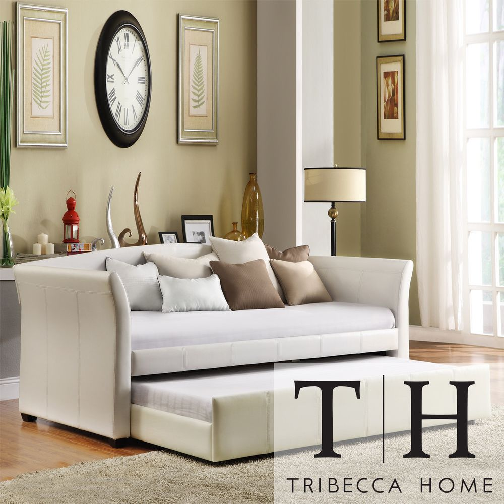 Great For Office/guest Room. TRIBECCA HOME Deco White Faux