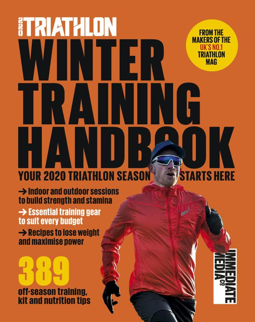 The Winter Training Handbook, brought to you by 220 Triathlon magazine, is your essential training partner this off-season – whatever your ability and experience…\n\nInside you will find:\n\n-The swim drills and sessions to transform your front-crawl\n- Indoor and outdoor workouts to boost bike strength, stamina and speed\n- Why hills and long, moderate efforts are core to your winter run plan\n- Cutting-edge swim, bike and run gear to train smart this off-season\n- Nutrition advice and recipes