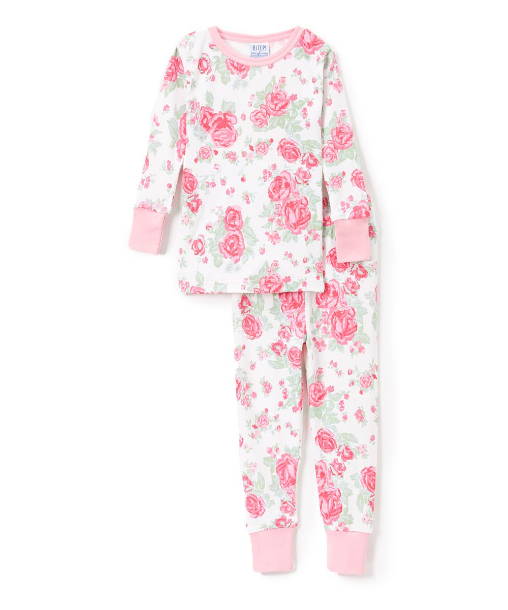 d3a134c1bf4d Pink Floral Pajama Set - Infant Toddler   Girls