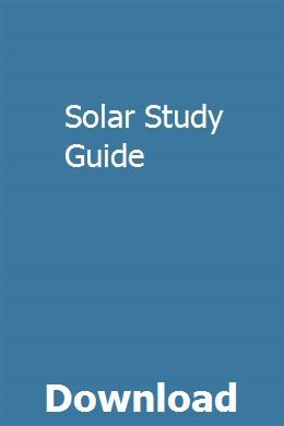 Solar Study Guide Lsat study guide, Exam guide, Sat study