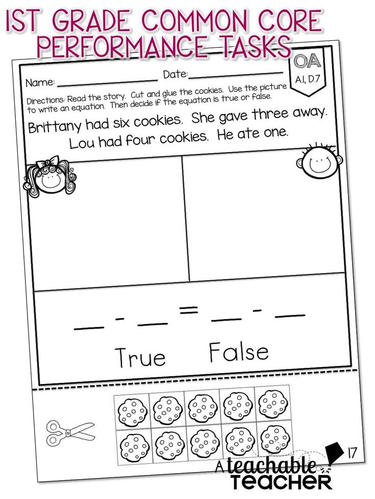 First Grade Common Core Math – Primary Maths Worksheets