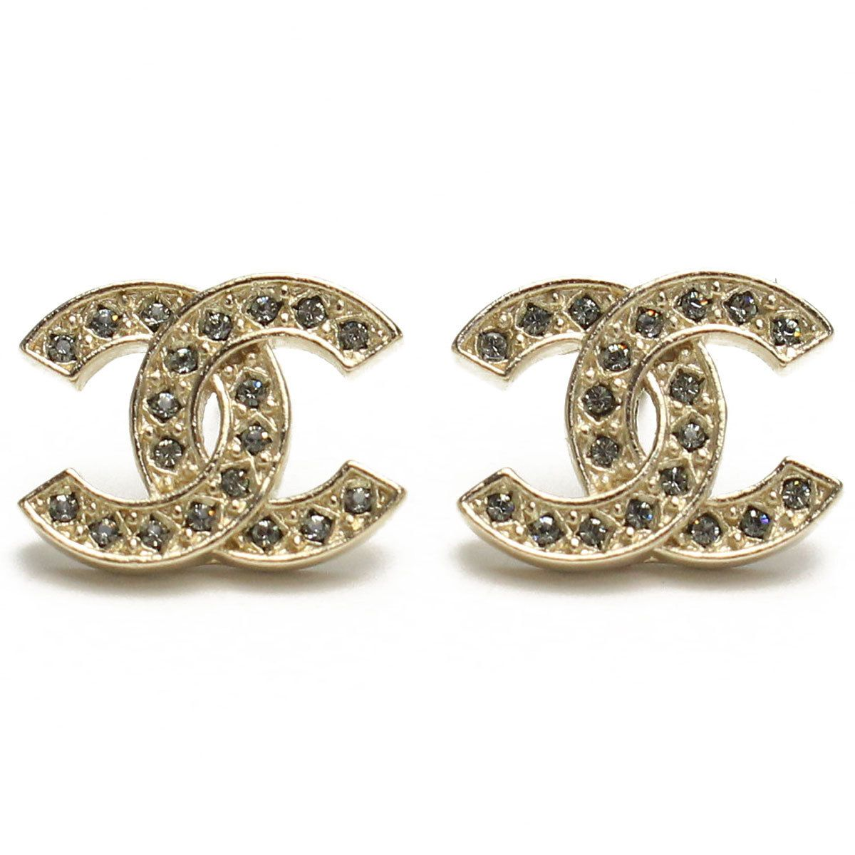 NEW Authentic Chanel Classic LARGE CC Logo Crystal Strass