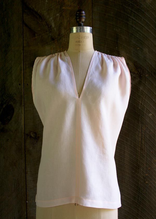 Free Tutorial: Linen Tunic With Gathered Shoulders. To Fit Chest ...