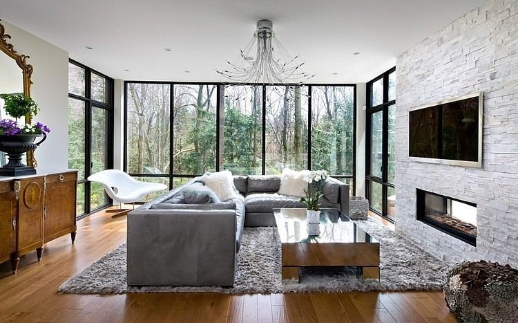 Rustikales Wohnzimmer ~ Sentinele house by barroso homes rustikales wohnzimmer