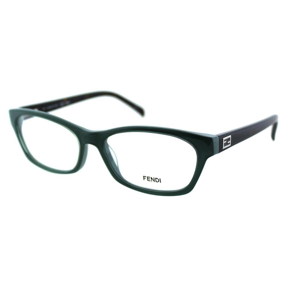 Fendi Women\'s FE 1032 315 Sage/ Pastel Rectangle Eyeglasses ...