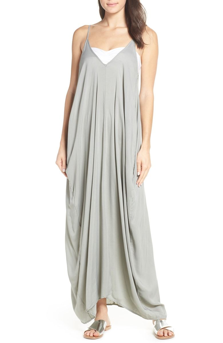 43d20ada1b Free shipping and returns on Elan V-Back Cover-Up Maxi Dress at  Nordstrom.com. Get an effortless look in this billowy maxi dress topped  with thin spaghetti ...