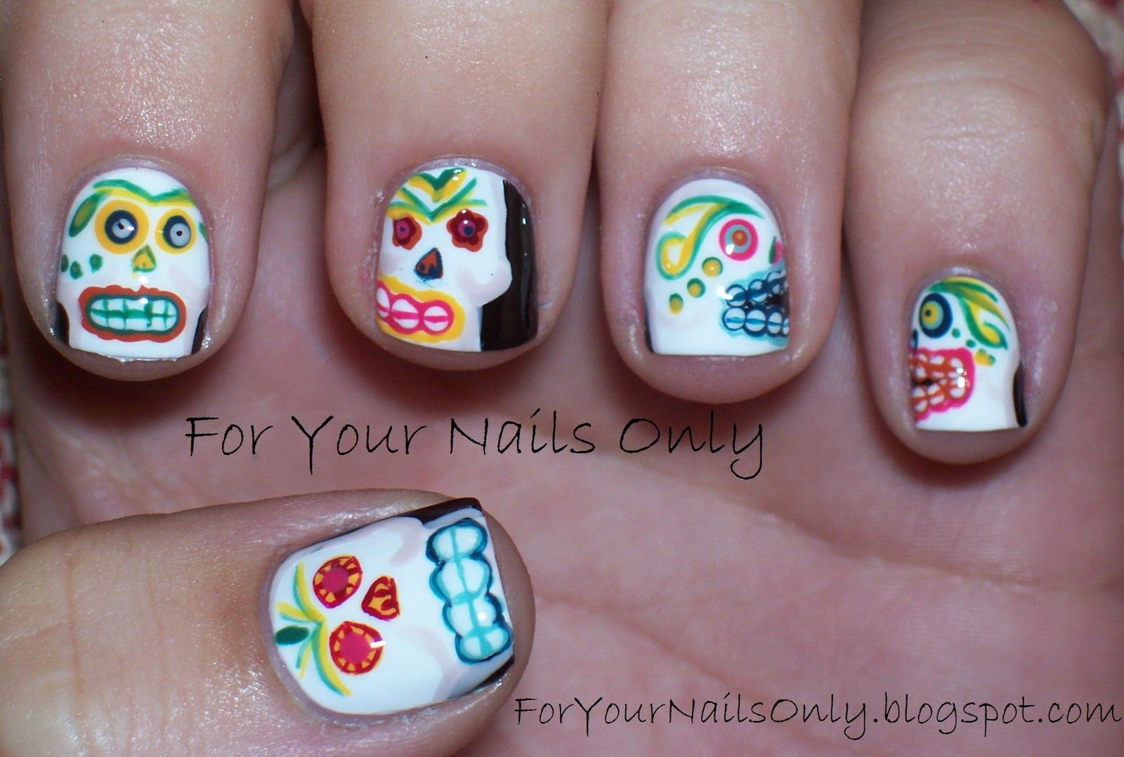 I Offer My (Sugar) Skull To The Dead… | For Your Nails Only | Dia de ...
