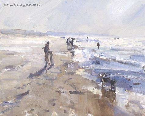 Afternoon walk - Seascape spring 4 available zeegezicht, painting by artist Roos Schuring