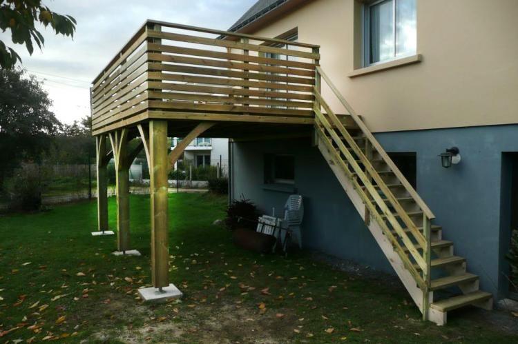 idée terrasse sur pilotis amenagement exterieur Pinterest - terrasse sur pilotis metal