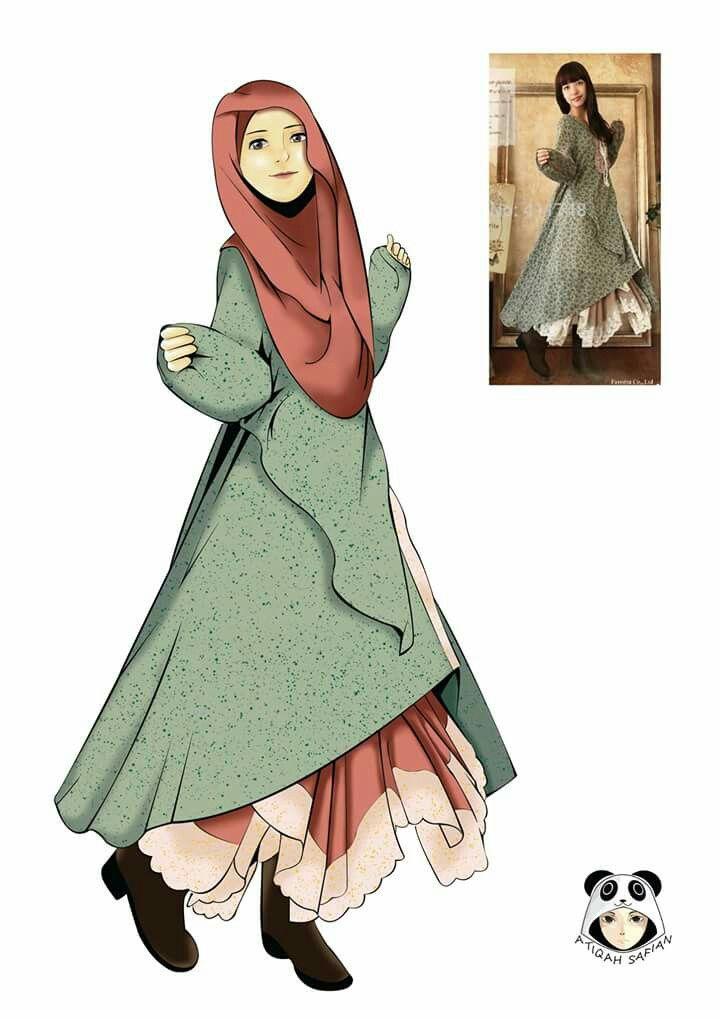 Hijab Fashion Anime Muslim Muslimah Anime Drawing In 2019