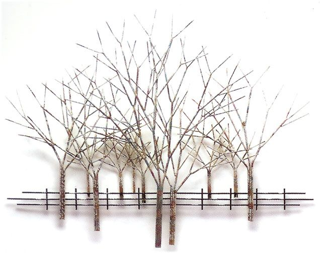 Wall Sculpture Metal winter orchard metal wall sculpture | liv | pinterest | metal wall