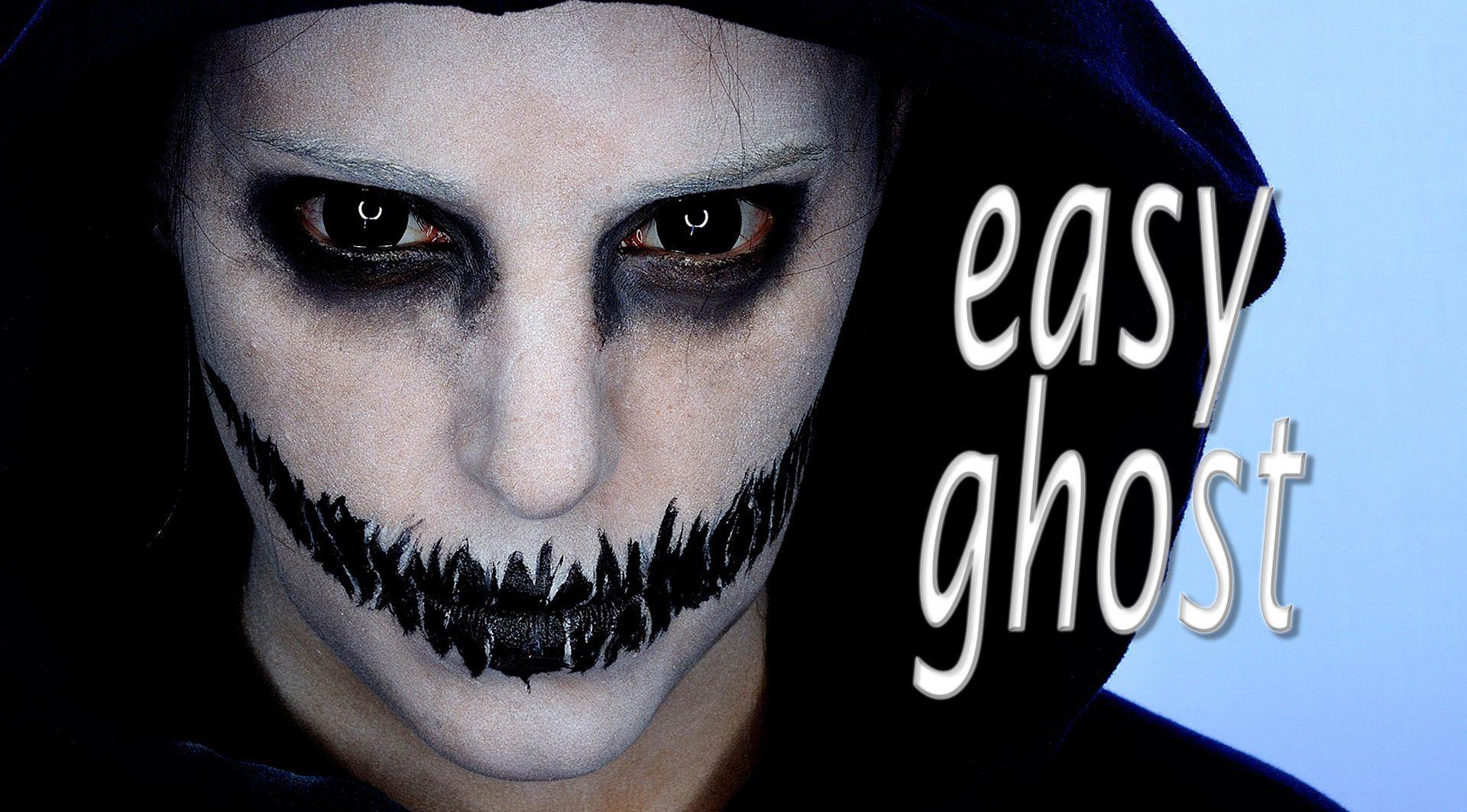 Ghost makeup halloween pinterest ghost makeup halloween ideas easy halloween makeup tutorial for men baditri Gallery