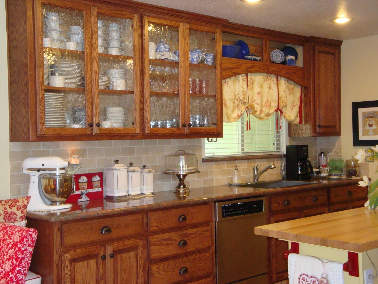 Image Result For Oak And Iron Kitchen Designs Glass Kitchen Cabinet Doors Glass Kitchen Cabinets Glass Fronted Kitchen Cabinets