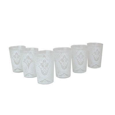 Casablanca Market Luxury EI Kef Tea Glass Color: White