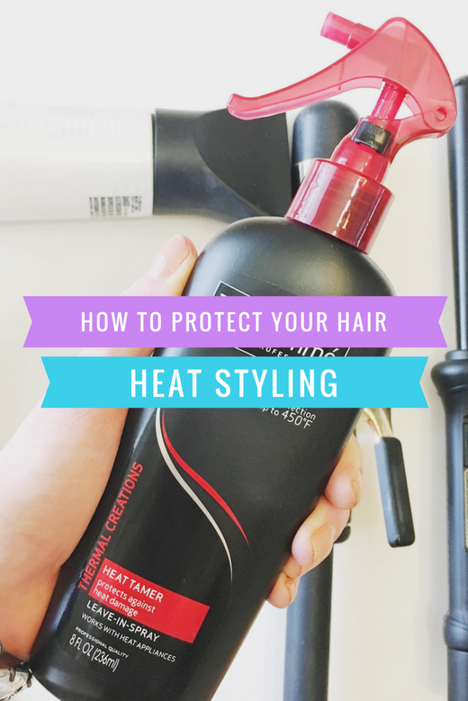 HOW TO PROTECT YOUR HAIR WHEN HEAT STYLING | DRUGSTORE REPURCHASE ITEM!