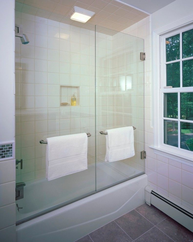 Good looking tub enclosures in bathroom contemporary with for Bathroom door ideas