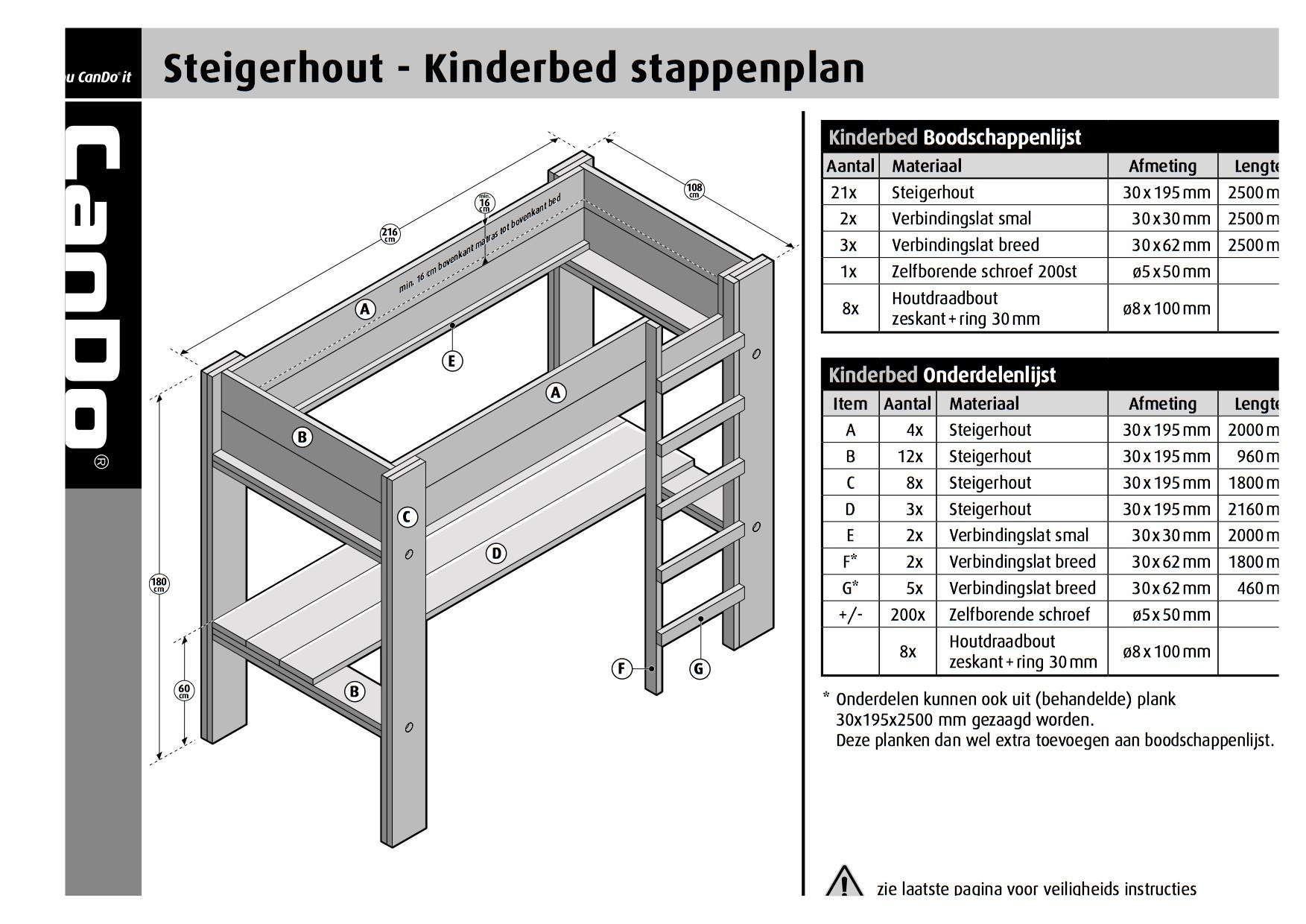 Verrassend Afbeeldingsresultaat voor bouwtekening cando hoogslaper WA-59