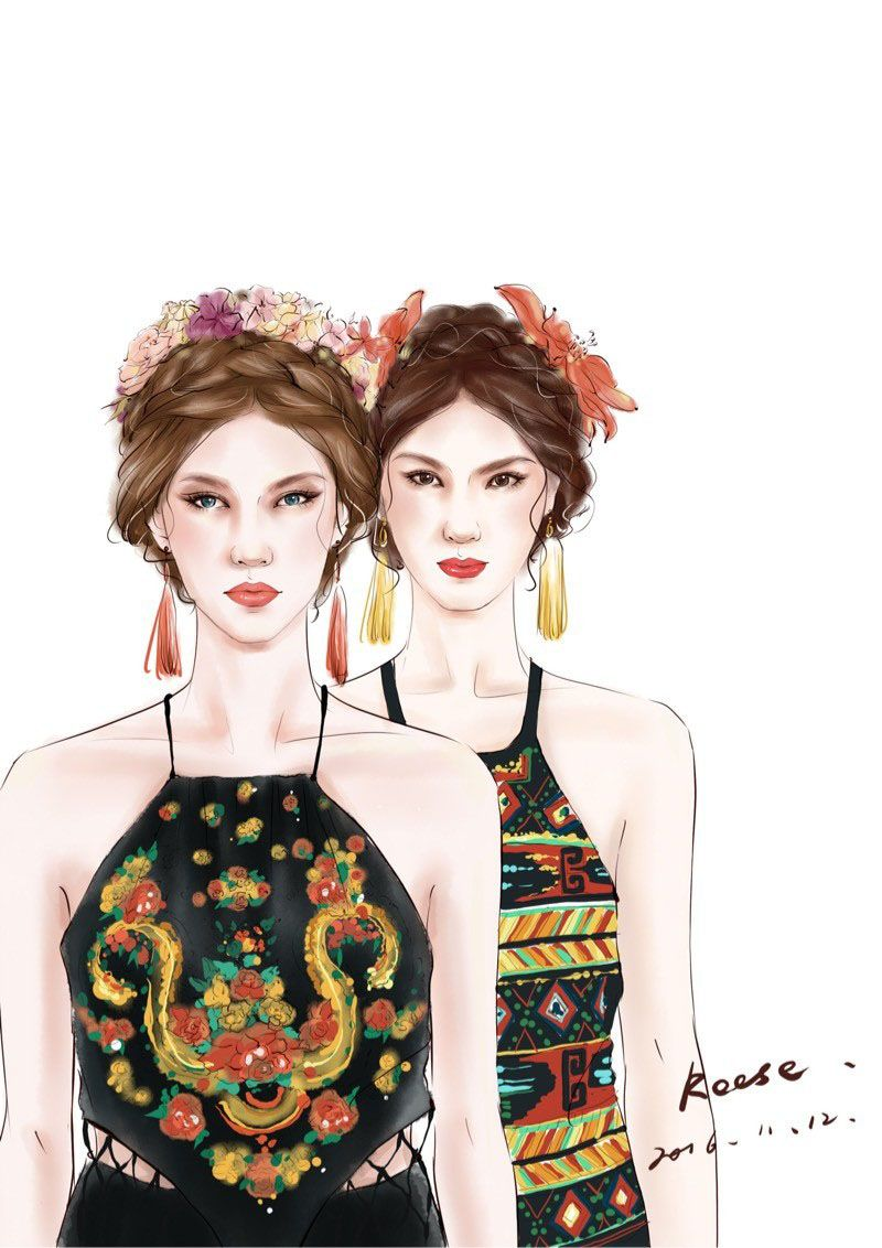 Fashion Hand-drawn illustration-From Reese -EEF.NET