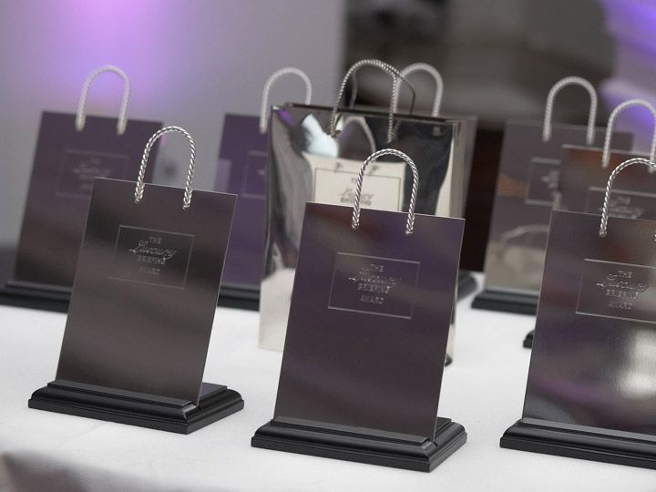 The Luxury Briefing Annual Awards for Excellence made in silver plate