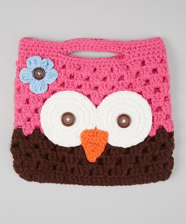 Take a look at this Pink & Brown Owl Purse by Crossroad on #zulily ...