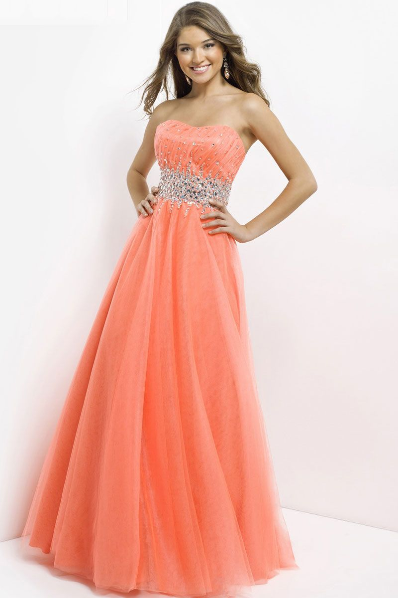long sweetheart natural waist prom dress - Gopromdress.co.uk