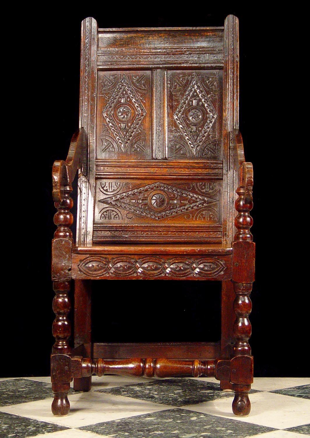 Wainscot Chair, Circa 1700