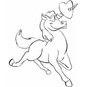 Unicorn And Heart Printable Coloring Page Free To Download And