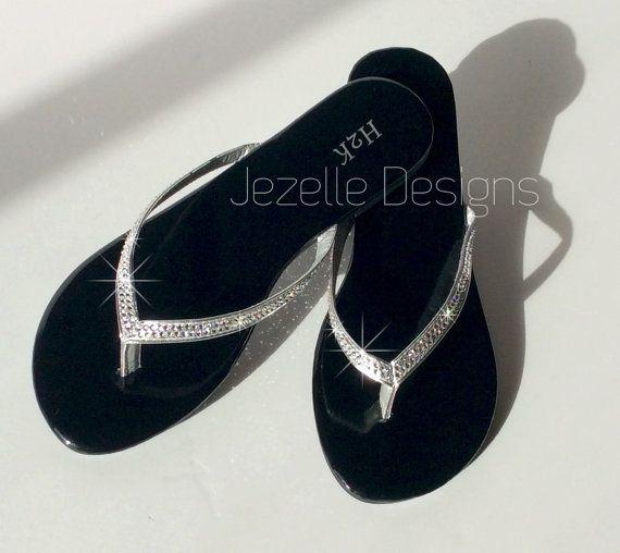 Swarovski Crystal Flip Flops - Bling Flip Flops - Swarovski Thong ... c53e1a560a