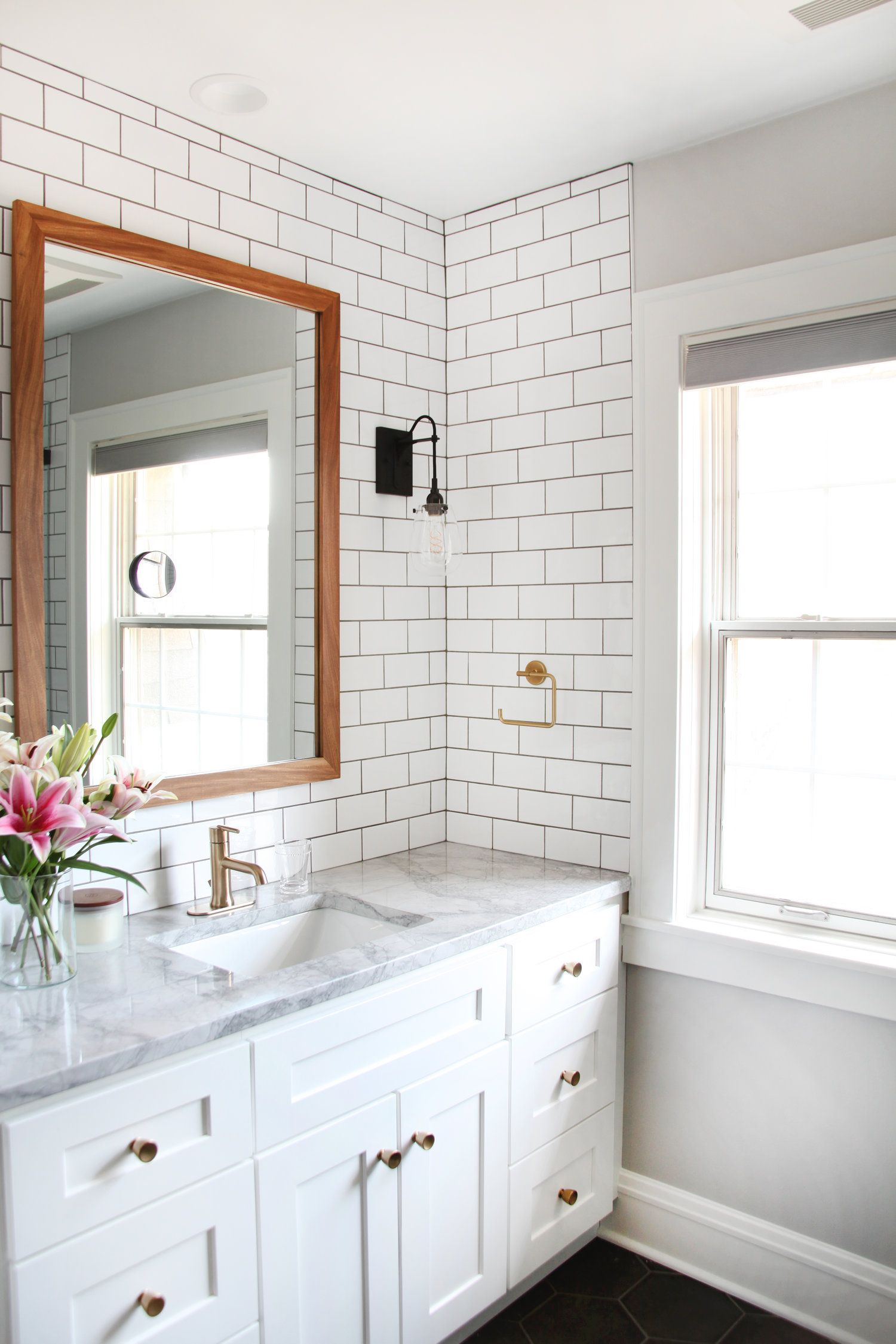 A Master Bath Remodel With A Modern Twist On A 1930 S Classic