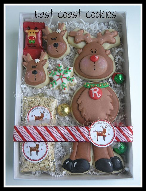 Reindeer cookie gift set