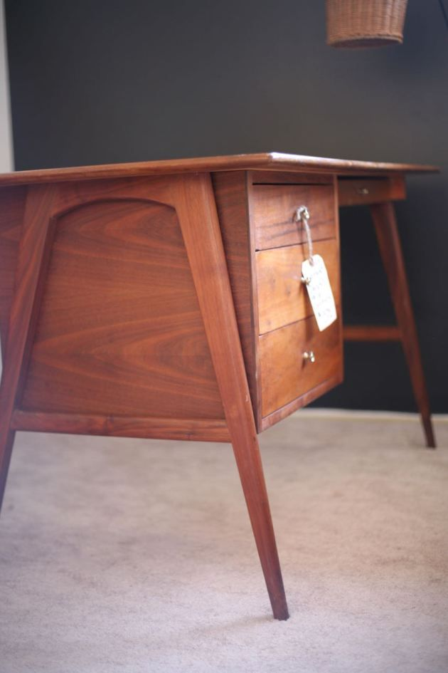 mid century modern desk danish teak - Mid Century Modern Furniture Desk