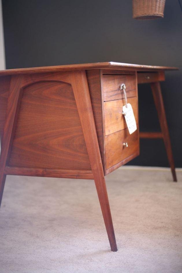 Mid Century Modern Desk Danish Teak More