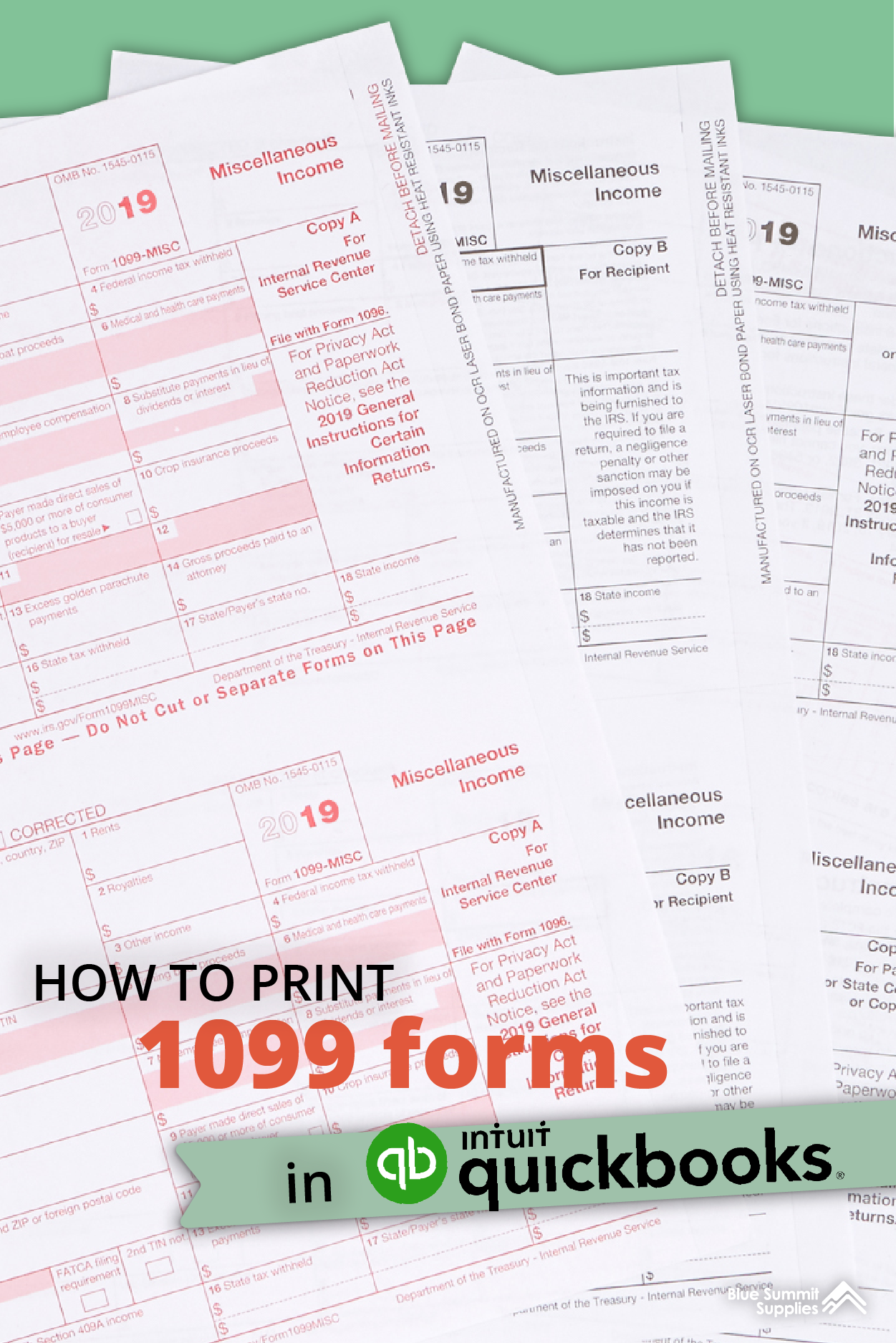 How To Print 1099 Forms In Quickbooks Quickbooks Quickbooks