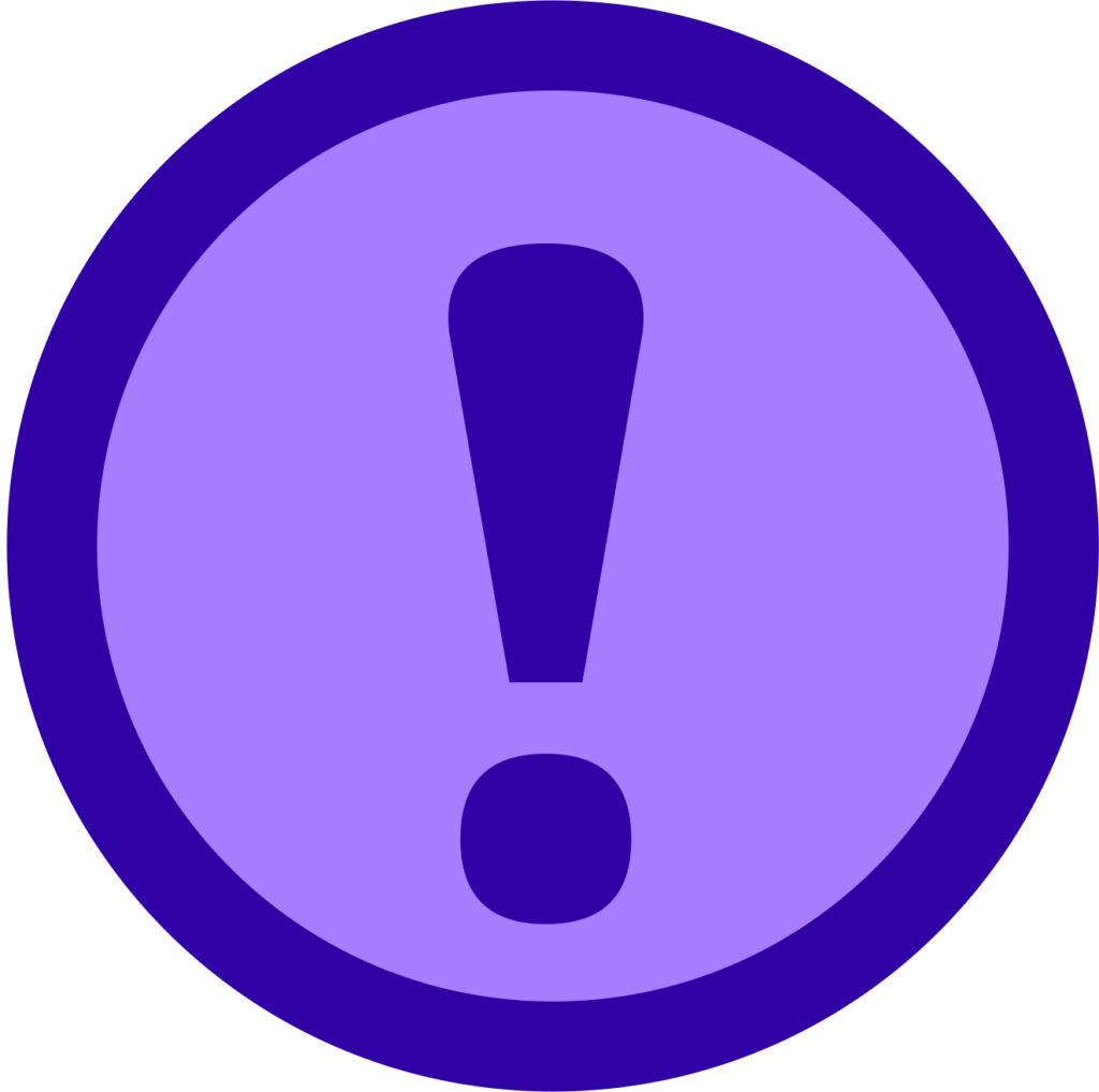 An Icon Showing An Exclamation Point In Its Center With
