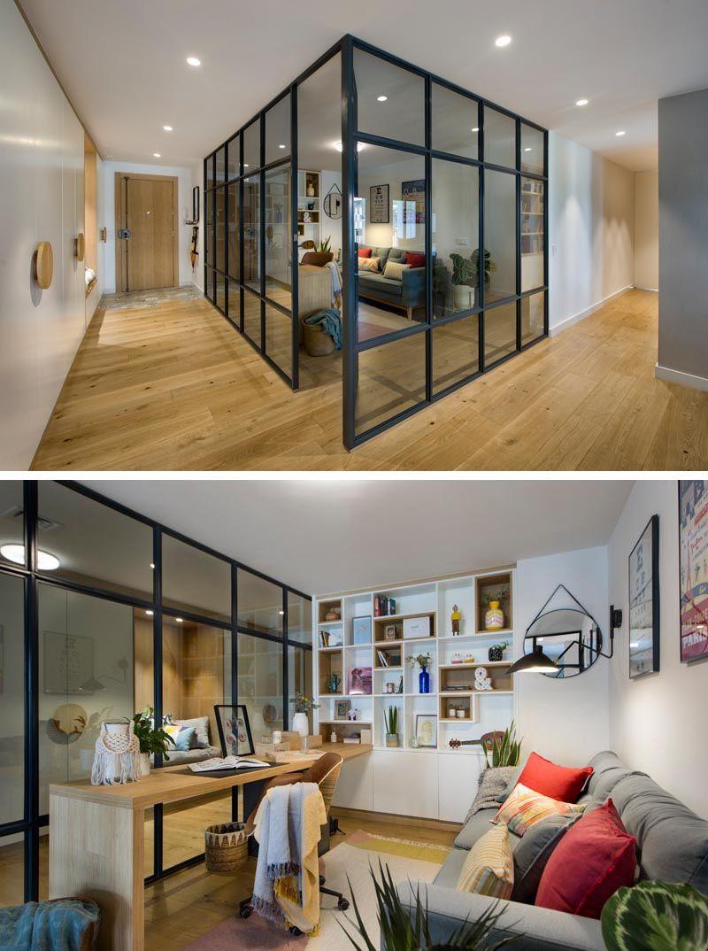 Open Floor Plan With Above Glass Enclosed Bedroom Huis Interieur