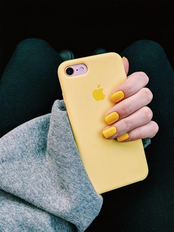 coque iphone 7 jaune pastel