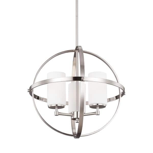 Sea gull lighting alturas 3124603 chandelier the bold circular metal rings of this sea gull lighting alturas 3124603 chandelier give it an elegant modern