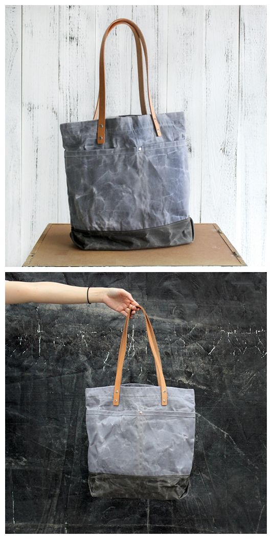 124664ffe6c5 Handmade Vintage Waterproof Canvas Tote Bag Shopper Bag Handbag for ...