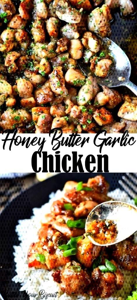 Honey Butter Garlic Chicken Recipe - Butter Your Biscuit#biscuit