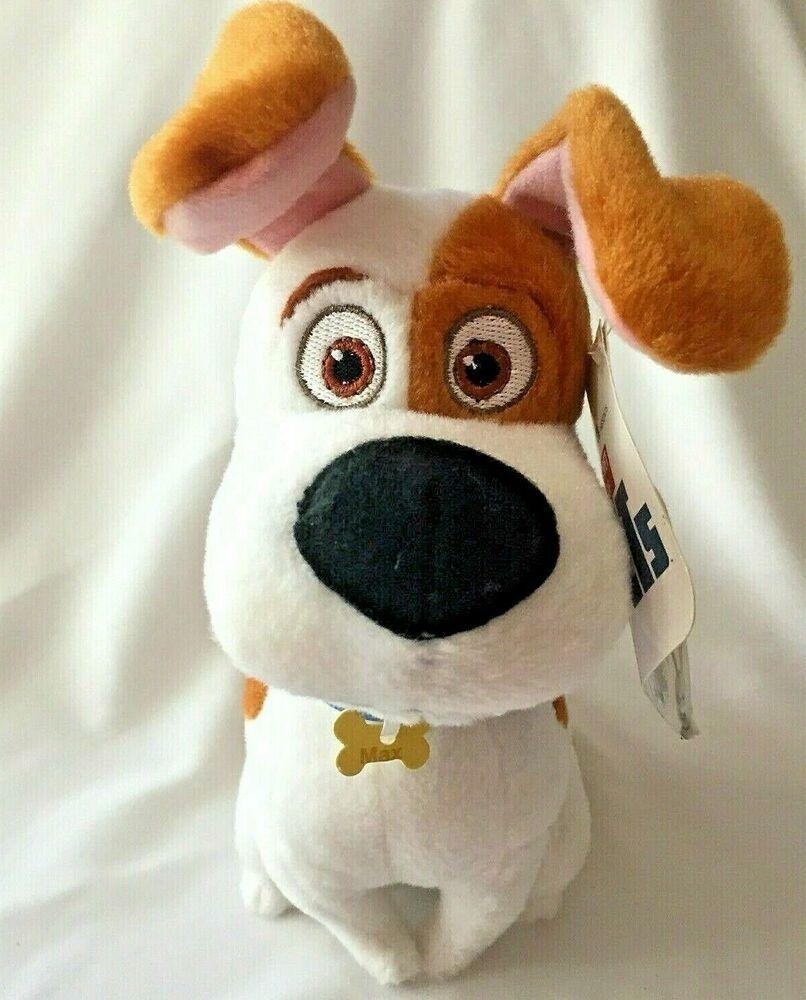 The Secret Life Of Pets Plush Max Dog Stuffed Animal 8 Tall Illumination Movie Toyfactory Dog Stuffed Animal Secret Life Of Pets Plush Animals