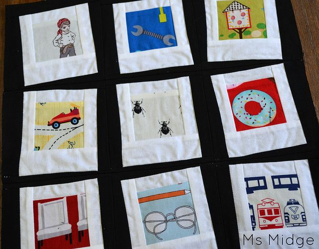 Polaroid Block for QCA Bee #5 by Ms Midge, via Flickr