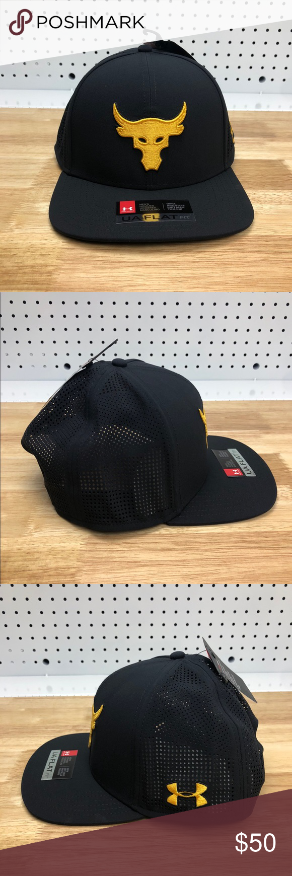 quality design fbe22 87f9d ROCK Under Armour X Project Rock Supervent Hat The ROCK Under Armour UA X  Project Rock
